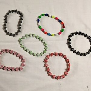Colorful Beaded Bracelets with designs